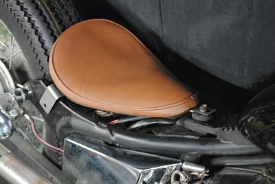 部品屋K&W シート本体 専用ソロシートキット リジットタイプ (プレーン) カラー:黒 ビラーゴ250(XV250)