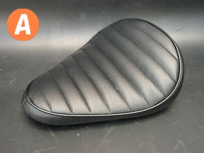 部品屋K&W シート本体 専用ソロシートキット リジットタイプ (ステッチ) カラー:黒 グラストラッカー ビッグボーイ