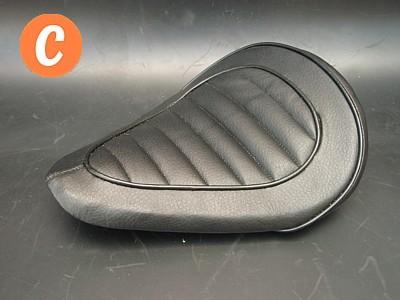 部品屋K&W シート本体 専用ソロシートキット スプリングタイプ (ステッチ) カラー:黒 SR400 SR500