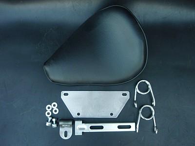 部品屋K&W シート本体 ソロシートキット スプリングタイプ (プレーン) カラー:黒 シャドウ400