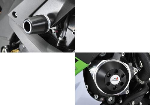 AGRAS アグラス ガード・スライダー レーシングスライダー ジュラコンカラー:ブラック (ロゴ有) ZX-10R