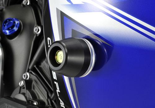 AGRAS アグラス ガード・スライダー レーシングスライダー ジュラコンカラー:ブラック (ロゴ有) YZF-R1