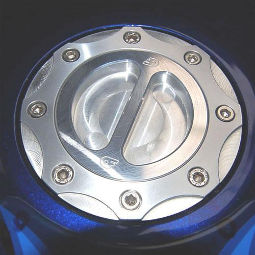 ODAX オダックス タンクキャップ OBERON フューエルフィラーキット カラー:シルバー