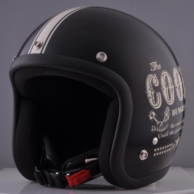 72JAM 72ジャム ジェットヘルメット Cools コラボレイトモデル オリジナルヘルメット ハングリーマン サイズ:XL(60-62cm未満)