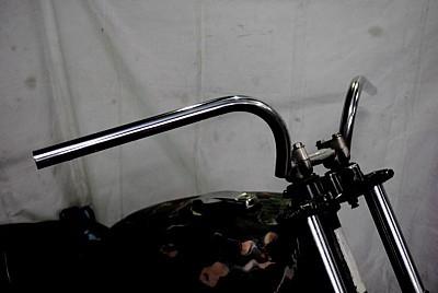 部品屋K&W ハンドルバー ラビットバーワイドタイプ サイズ:1インチ(鉄製表面処理無し) 250TR