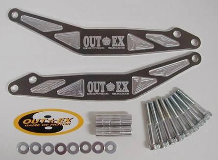 OUTEX アウテックス ステアリングステムスタビライザー カラー:ブラックアルマイト SM250R SM450R SM450RR 07-08 SM510R