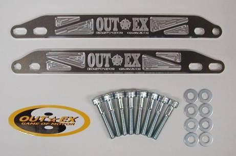 OUTEX アウテックス ステアリングステムスタビライザー カラー:ブルーアルマイト SM250R SM400R SM450R SM510R SM570R SM610R