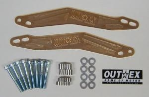 OUTEX アウテックス ステアリングステムスタビライザー カラー:ゴールドアルマイト YZ250F YZ450F
