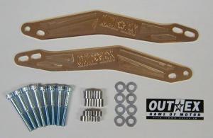 OUTEX アウテックス ステアリングステムスタビライザー カラー:ブラックアルマイト YZ250F YZ450F