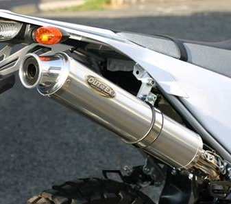アウテックス OUTEX.R-SST フルエキゾーストマフラー サイレンサーバンドステーカラー:クリアーアルマイト WR250R WR250X