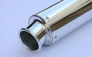 K2TEC ケイツーテック バッフル・消音装置 汎用アルミサイレンサー 60.5カール フックタイプ 外径:Φ89 長さ:300mm