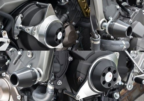 AGRAS アグラス ガード・スライダー レーシングスライダーセット ジュラコンカラー:ホワイト MT-09
