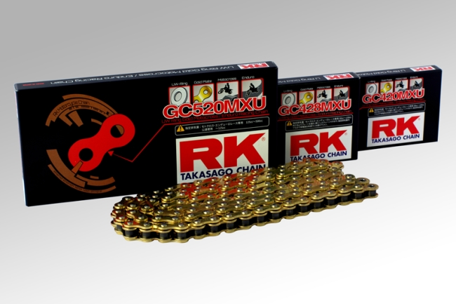 RK アールケー GCレーシングゴールドチェーンシリーズ GC520MXU
