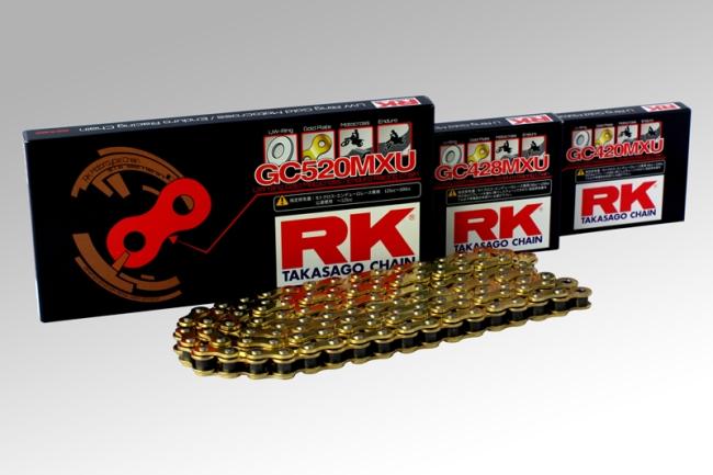 RK アールケー GCレーシングゴールドチェーンシリーズ GC428MXU CRF100F XR100モタード KDX125R DR-Z50 DR-Z70 RM80 RM85 TT-R125 TT-R125 TT-R125 TT-R125 YZ80 YZ80 YZ85 YZ85LW