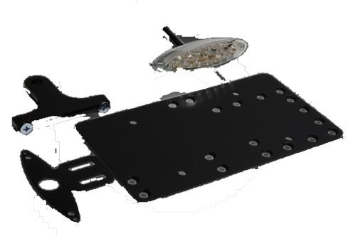 ガレージT&F ナンバープレート関連 サイドナンバーキット スモールスネークアイテールランプ LED レンズカラー:クリア