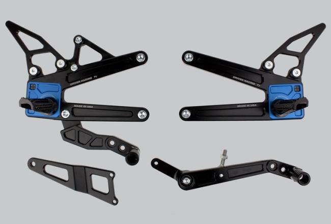 DRIVEN ドリブン D-Axis TTバックステップ カラー:シルバー YZF-R1