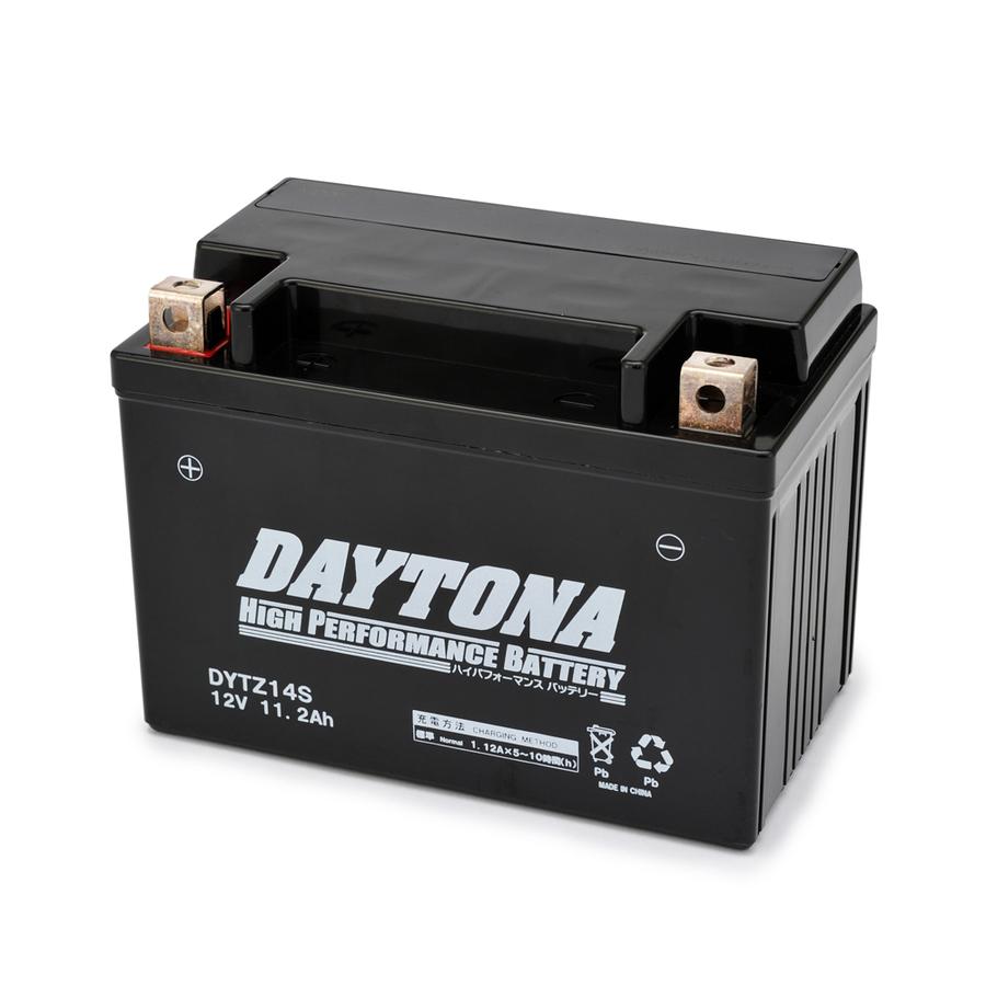 DAYTONAデイトナ 鉛系バッテリー ハイパフォーマンスバッテリー 舗 希少 液入り充電済 デイトナ DYTZ14S DAYTONA