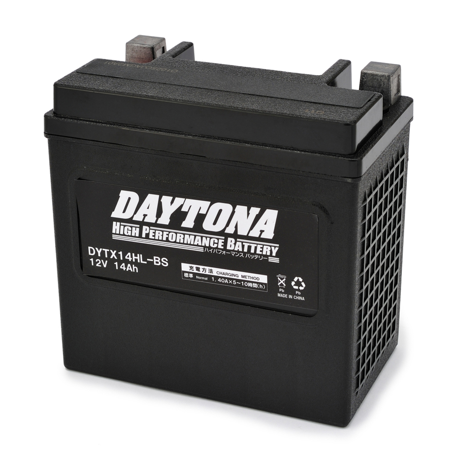 【在庫あり】DAYTONA デイトナ ハイパフォーマンスバッテリー 液入り充電済 【DYTX14HL-BS】