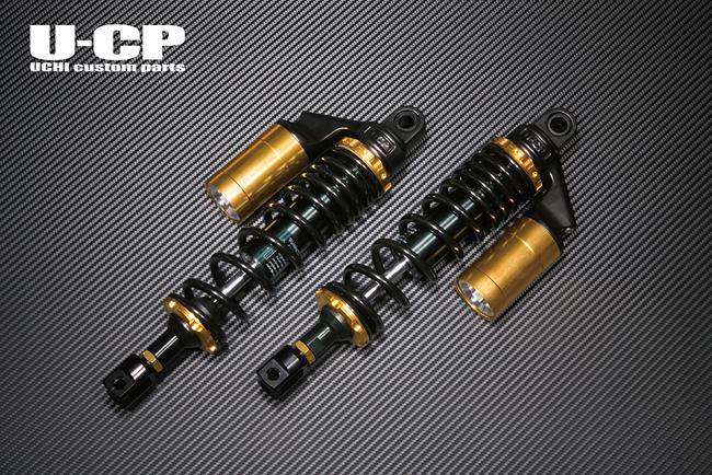 U-CP ユーシーピー リアサスペンション カラー:ブラック/ゴールド GSX1100S カタナ (刀)