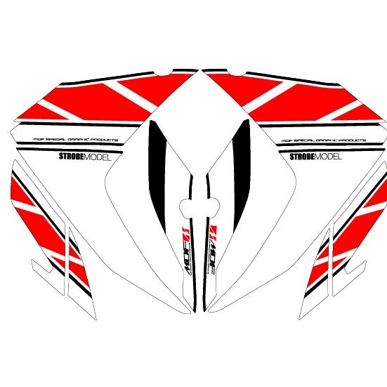 MDF エムディーエフ ステッカー・デカール 車種別グラフィックデカールキット YZF-R3/R25 フロントサイド部分、左右セット YZF-R25 YZF-R3