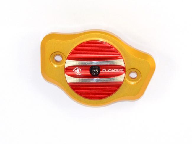 【イベント開催中!】 DUCABIKE ドゥカバイク アルミビレット・カムシャフトカバー カラー:ゴールド/レッド