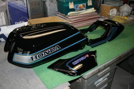 バイクペイント.com Bike Paint.com スプレータイプ塗料 CB750FB ブラック図面つきウレタン塗料セット CB750F B