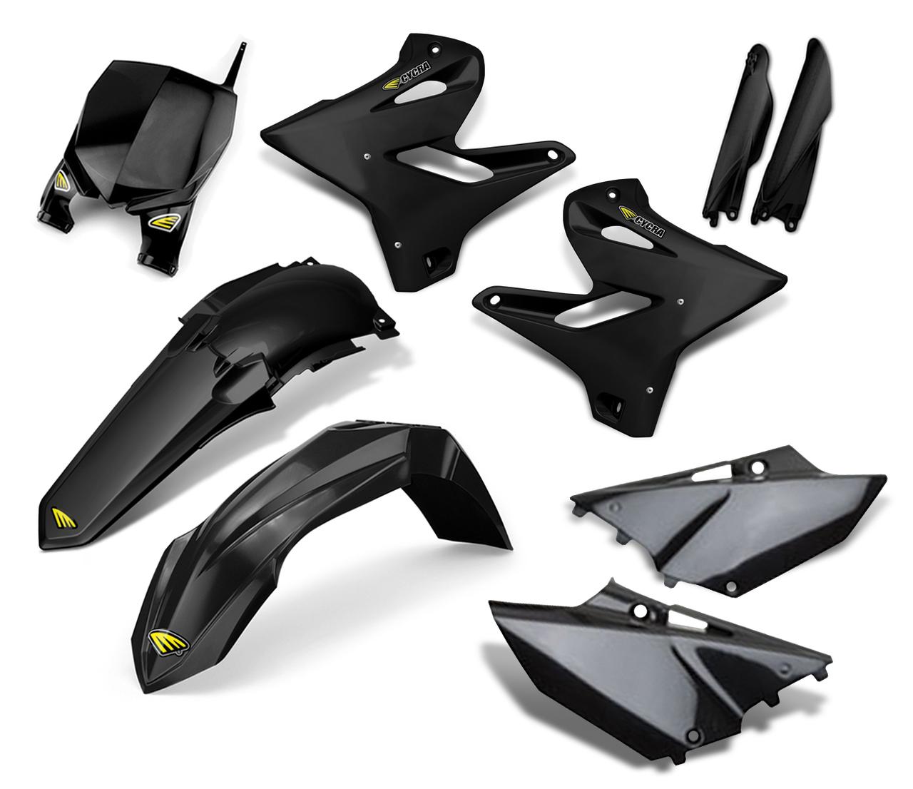 CYCRA サイクラ フルカウル・セット外装 パワーフローインテークラジエターボディキット カラー:ブラック YZ125 YZ250 YZ250X YZF250 YZF450