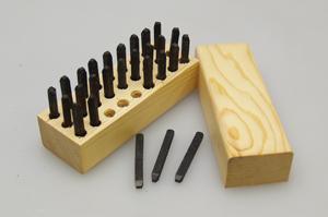 SANKEN サンケン その他の工具 3/32インチ(2.38mm)アルファベットタンプセット