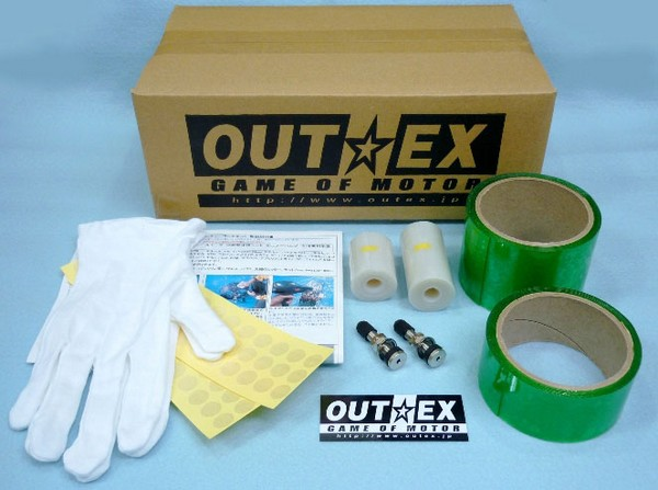 OUTEX アウテックス ホイール関連パーツ クリアチューブレスキット CRF250L DR-Z400 S TE450 WR250R