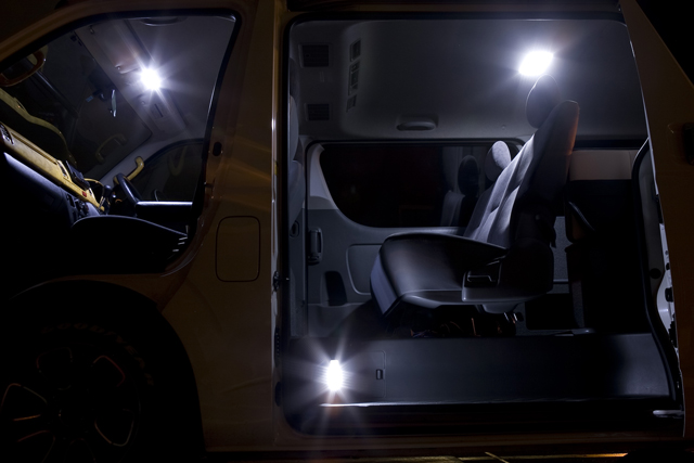オグショー OGUshow トランポ用品 【ブランド:VALENTI (ヴァレンティ・バレンティ)】200系ハイエース JEWEL [ジュエル] LEDルームランプ タイプ:両側スライド車用セット 200系ハイエース S-GL、ワゴンGL