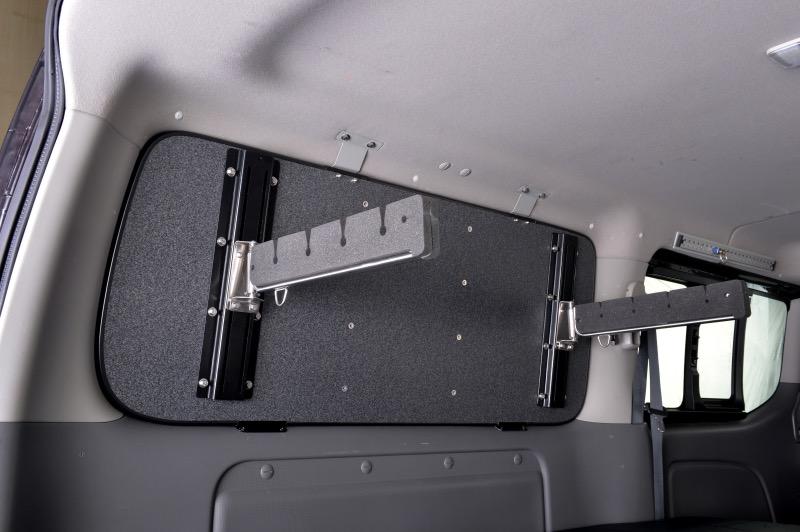 オグショー OGUshow トランポ用品 ESサイドロッドホルダー(W) セット内容:本体+追加ホルダー(計8本積み) 車種:NV350キャラバン 200系ハイエース/NV350キャラバン