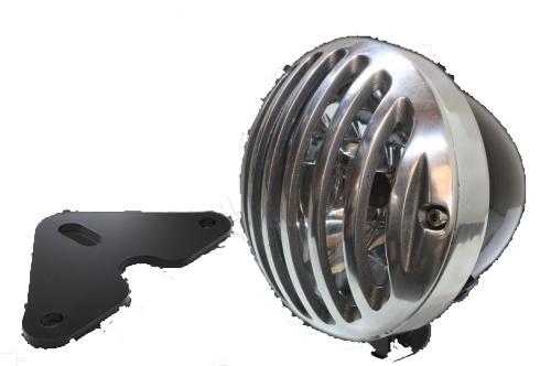 ガレージT&F 4.5インチバードゲージヘッドライト&ライトステー(タイプF)キット グラストラッカー グラストラッカー ビッグボーイ