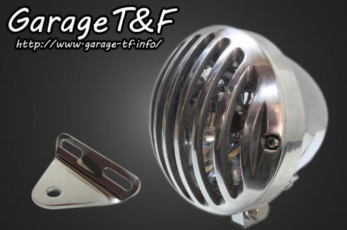 ガレージT&F ヘッドライト本体・ライトリム/ケース 4.5インチバードゲージヘッドライト&ライトステー(タイプA)キット バードゲージカバー:ポリッシュ仕上げ ヘッドライト:メッキ仕上 シャドウスラッシャー400