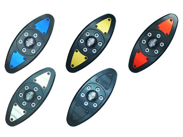 P&A International パイツマイヤーカンパニー ガード・スライダー クラッシュパッド Extreme X-Pad カラー:レッド F800R