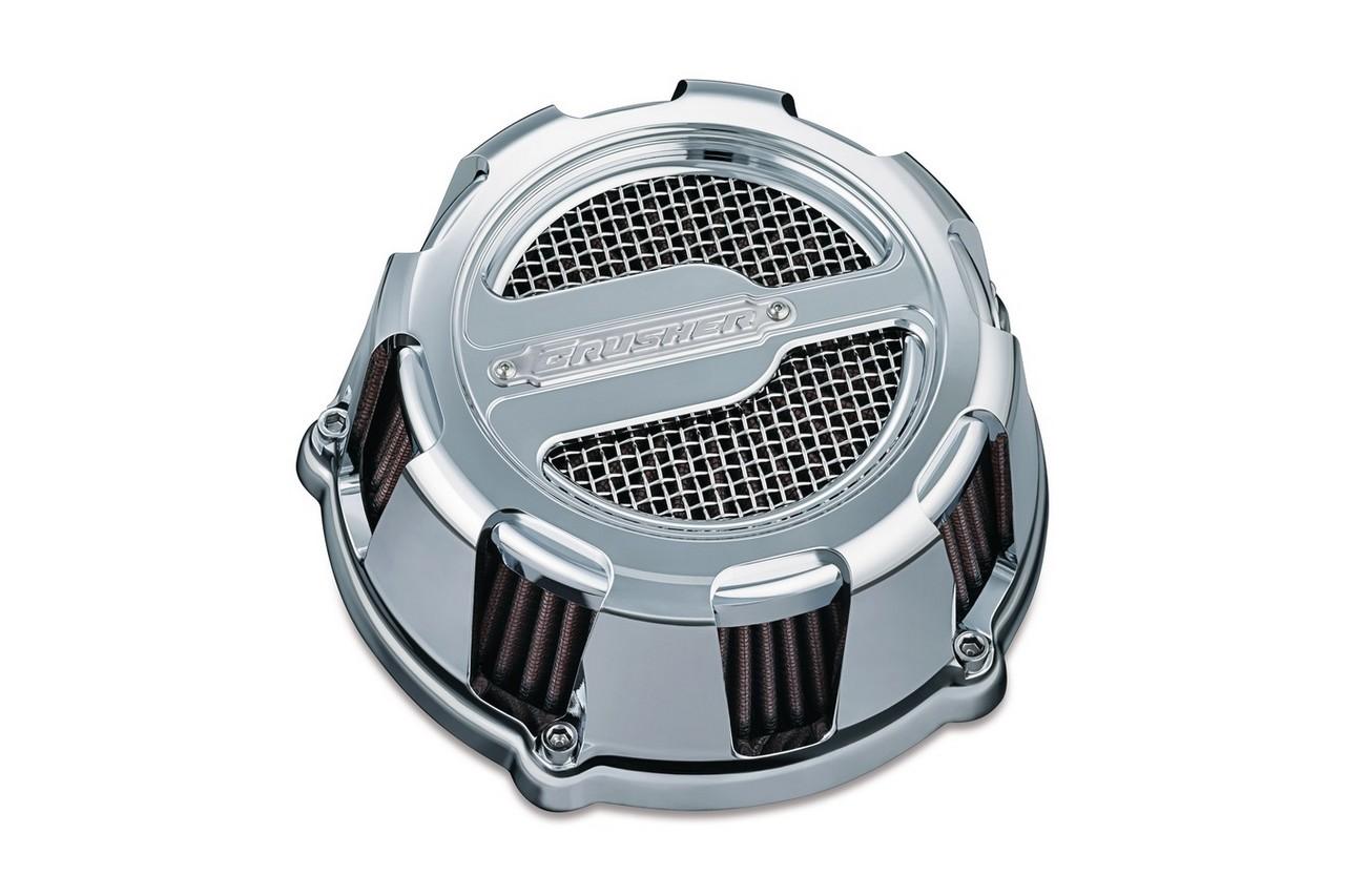 KURYAKYN CRUSHER EXHAUST クリアキンクラッシャーマフラー エアクリーナー・エアエレメント MAVERICK CUSTOM AIR CLEANER ASSEMBLY カラー:CHROME