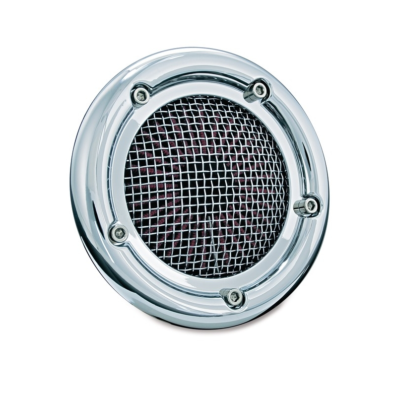 KURYAKYN CRUSHER EXHAUST クリアキンクラッシャーマフラー エアクリーナー・エアエレメント VELOCIRAPTOR AIR CLEANER for H-D MODELS カラー:CHROME