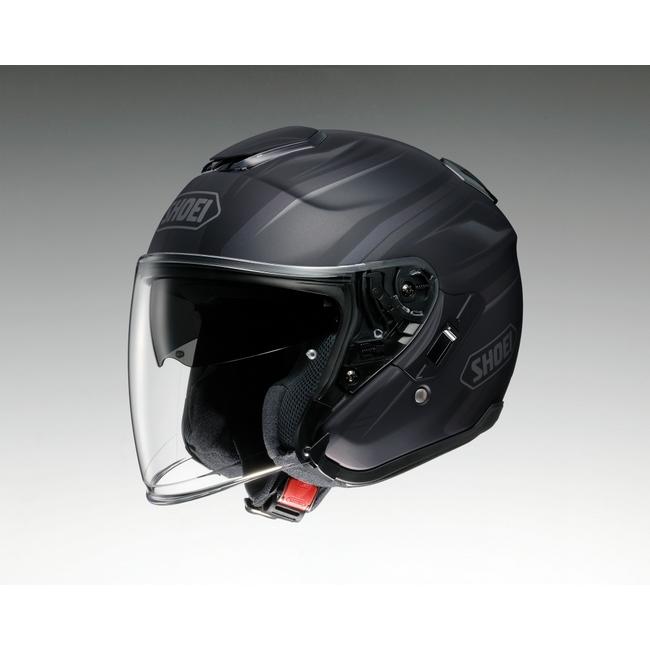 SHOEI ショウエイ ジェットヘルメット J-Cruise PASSE [ジェイ-クルーズ パッセ TC-5 BLACK/SILVER マットカラー] ヘルメット サイズ:M (57cm)