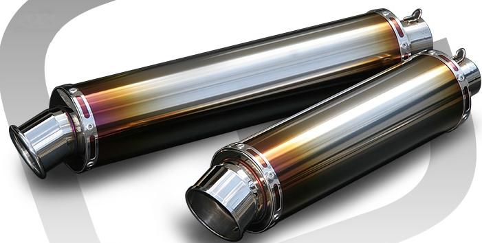 Realize リアライズ スリップオンマフラー 汎用サイレンサー サイレンサーエンド:カールエンド サイレンサー全長:450mm サイレンサー素材:チタン