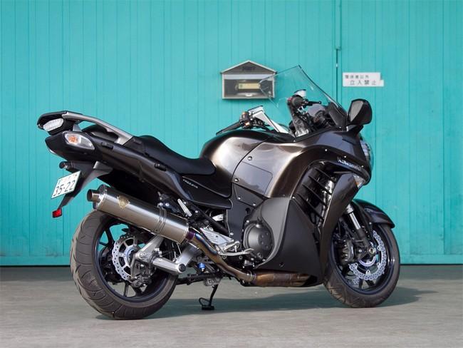 r's gear アールズギア ワイバン スリップオンマフラー タイプ:真円/チタン 1400GTR