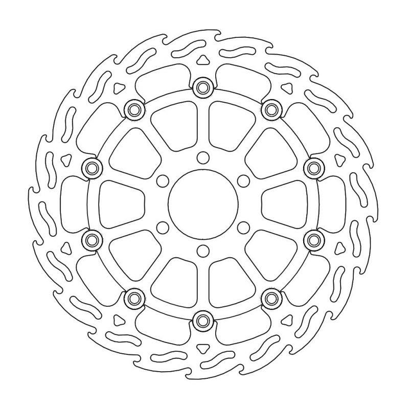 MOTOMASTER モトマスター フレイム ステンローター [ブラックインナー] 125DUKE [デューク] 200DUKE [デューク] 390DUKE [デューク] RC125 RC200 RC390