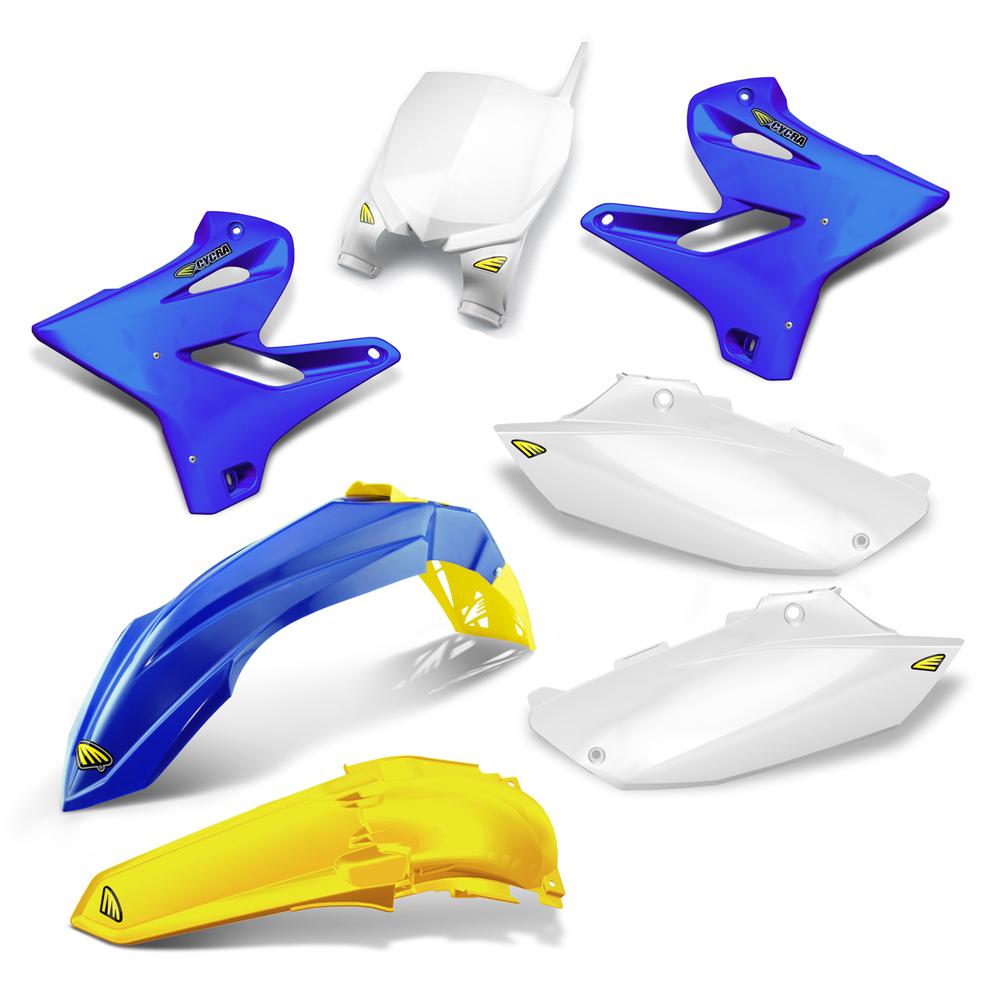 CYCRA サイクラ フルカウル・セット外装 パワーフローインテークラジエターボディキット カラー:ブルー/イエロー(ゴールド) YZ125 05-14 YZ250 05-14