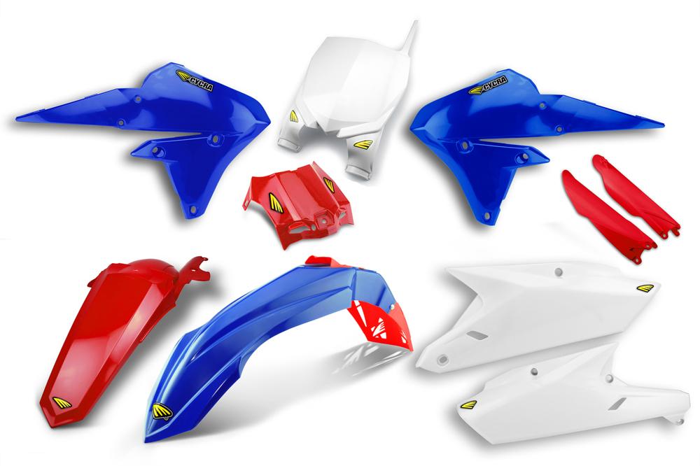 CYCRA サイクラ フルカウル・セット外装 パワーフローインテークラジエターボディキット カラー:レッド/ブルー YZ250 YZ450F