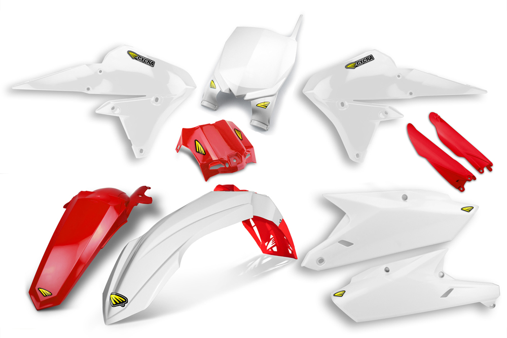 CYCRA サイクラ フルカウル・セット外装 パワーフローインテークラジエターボディキット カラー:ホワイト/レッド YZ250 YZ450F