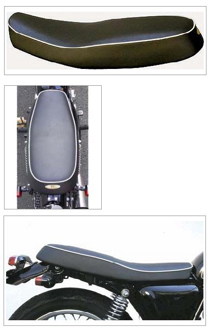 K&H ケイアンドエイチ シート本体 ダブルシートタイプ3A パイピング白 <セミオーダー> カラー:レッド SR400 SR500
