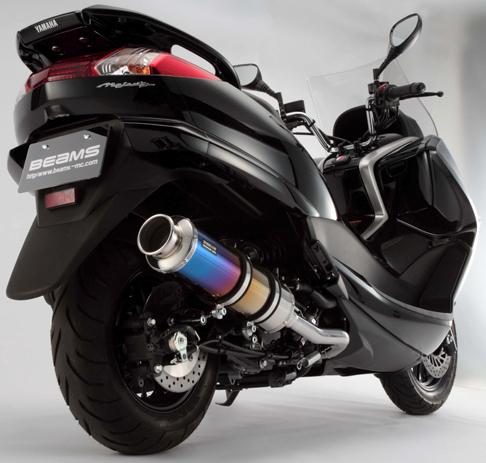 BEAMS ビームス SS400 フルエキゾーストマフラー サイレンサー:チタン マジェスティ250(SG20J)