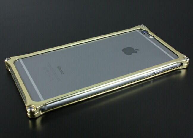 GILD design ギルドデザイン ソリッドバンパー for iPhone6/S Plus シャンパンゴールド