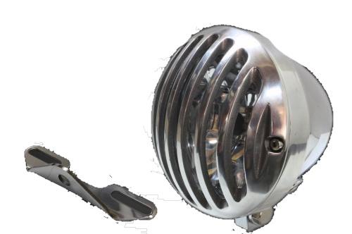 ガレージT&F ヘッドライト本体・ライトリム/ケース 4.5インチバードゲージヘッドライト&ライトステー(タイプB)キット ヘッドライト:スチール製メッキ仕上げ/バードゲージカバー:アルミ製ポリッシュ仕上げ ドラッグスター400クラシック