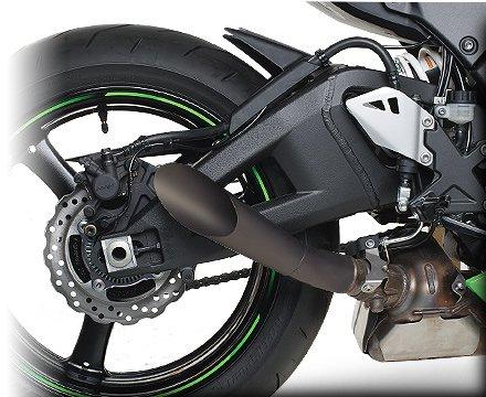 HOT BODIES RACING ホットボディーズ レーシング メガホンスリップオンマフラー ブラック塗装 [1812-0247] ZX-10R Ninja 2011-2017