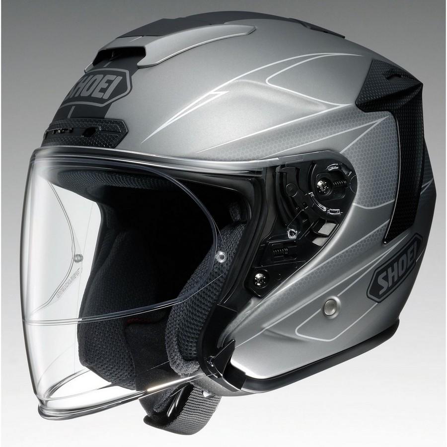 SHOEI ショウエイ ジェットヘルメット J-FORCE IV MODERNO [ジェイ-フォース フォー モデルノ TC-10 GREY/BLACK マットカラー] ヘルメット サイズ:XS (53cm)
