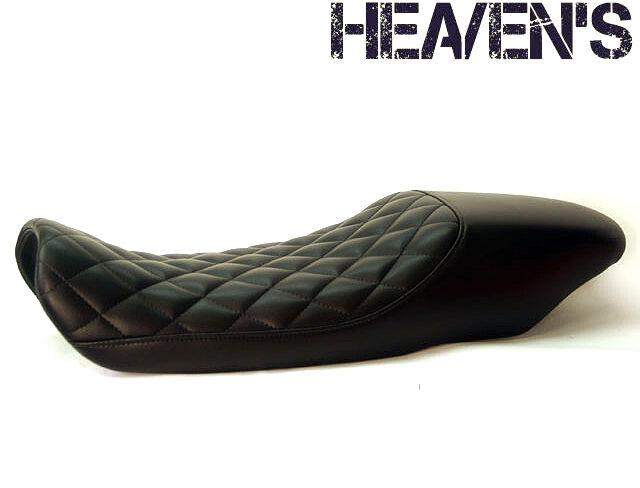 HEAVENS ヘブンズ シート本体 トラッカーシート ダイヤ エナメルレザー:ブラック (受注生産) シートカラー:ブラック パイピングカラー:ホワイト (受注生産) 低反発シート (受注生産) FTR223